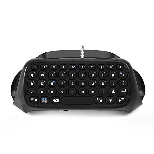 Hopcd pour PS4 Clavier de contrôleur, Mini Clavier de Jeu sans Fil Blutooth Chatpad pour contrôleur Playstation 4, Connexion à Distance de 10 m