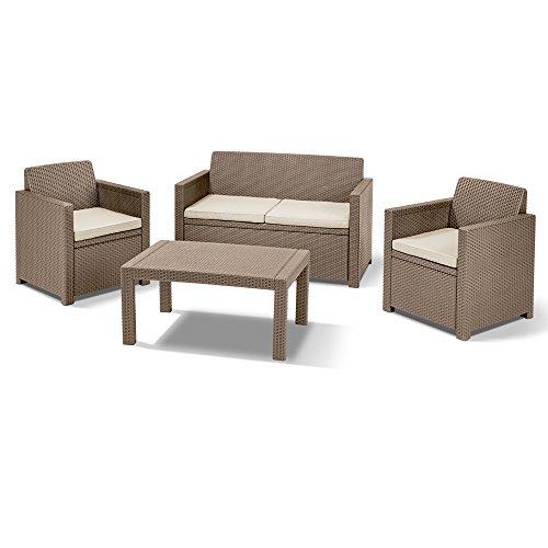 Allibert Lounge-Set Merano 4tlg, cappuccino/sand