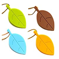 間仕切り 1枚の創造的な葉のデザインの安全ドアの停止ウェッジストッパー家の装飾 (Color : Yellow)