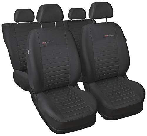 Carpendo Sitzbezüge Auto Set Autositzbezüge Schonbezüge Dunkelgrau-Grau Vordersitze und Rücksitze mit Airbag System - P4