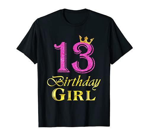 13 cumpleaños niña princesa camisa 13 años 13 cumpleaños Camiseta
