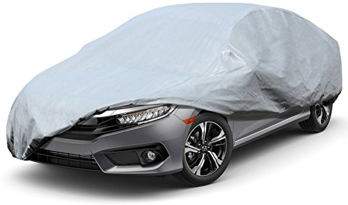 """Leader Accessories Xtreme guard 5 Layers Waterproof Breathable Outdoor Indoor Car Cover(cars up to 16'8""""(200""""))"""