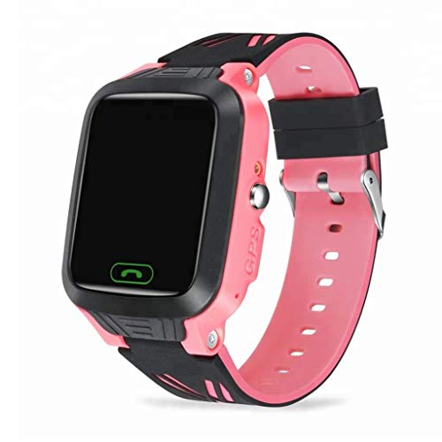Rsiosle Kids Smart Watch IP67 Waterproof GPS Smartwatch Color Touch Screen with HD Call SOS Function Pedometer Gives Boy Girl The Best Gift (Color : Pink)
