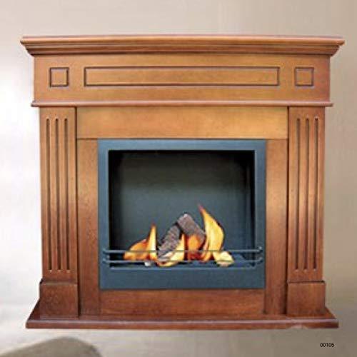 LordsWorld 00105 verwarming – milieuvriendelijk voor open haard – walnoothout – palladium – verwarming en verwarmingshaard in design voor huis en kantoor