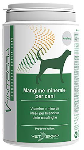 V-Integra Mangime Minerale per la Dieta Casalinga del Cane Anziano - 200 Gr