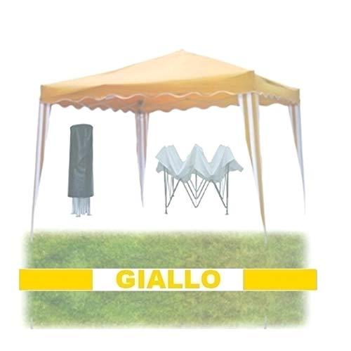 GrecoShop Gazebo Pieghevole Impermeabile in Alluminio...
