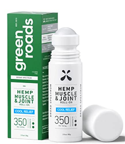 New Green Roads Muscle and Joint Cool Relief Hemp Roll - On - 3 oz, 350MG…