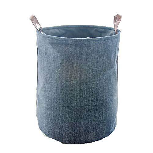 Cesta de lavandería plegable Vaquero sin palabras de almacenamiento del cubo a prueba de humedad del algodón ropa sucia barril de la cesta del almacenaje de acabado Inicio Cesta de lavandería de almac