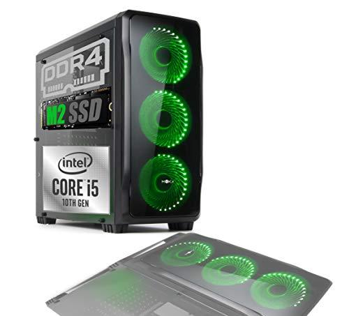 PC DESKTOP GAMING CRISTAL INTEL i5-8400 RAM 8GB SSD 480GB WI