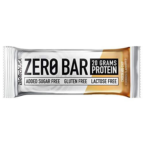 BioTech USA - Zero Bar, 5 x 50g Galletas con chispas de chocolate