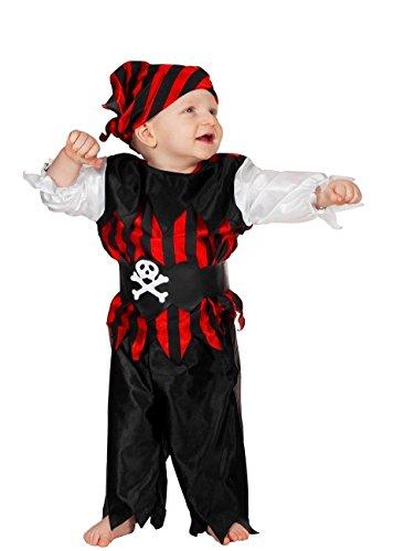 W3024-92 Piraten-Kostüm Baby-Kleinkinderkostüm Gr.92