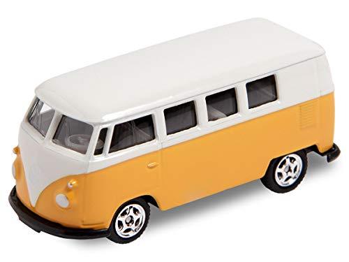 Welly Alsino VW Bus Bulli Modellauto 7,5 cm Modell Volkswagen 1:60 Bully Minibus Oldtimer, Variante wählen:56/0076 VW Bus T1 Mini gelb