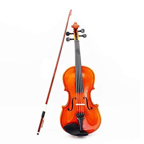 LOIKHGV Geige- Akustikvioline in Größe 1/8 mit feinem Bogen Kolophonium für Alter 3-6 M8V8, Mahagonifarbe