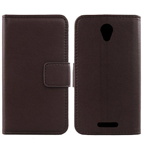 Gukas Echt Leder Tasche Für Alcatel One Touch POP 4 5051D 5