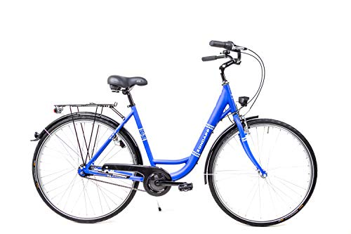 28 Zoll Alu Zündapp Damen City Bike Fahrrad Shimano Nexus 7 Gang Rücktritt blau