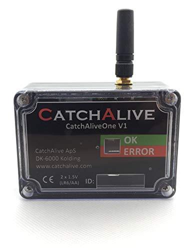 CatchAlive Fallenmelder (CatchAliveOne) mit Batterien und 12-monatiges Abonnement