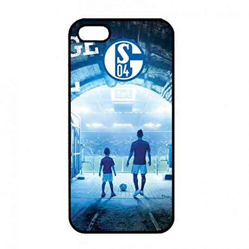 berü HMT FC logo pattern Custodia per Apple iPhone 5/5S/Se, FC Schalke 04 FC Schalke 04 per cellulare Cover Custodia cover in TPU silicone Cellulare, Apple iPhone 5/5S/Se FC Schalke 04 per cellulare