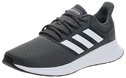 adidas Falcon, Scarpe da Corsa Uomo, Grigio (Grey/Footwear White/Core Black 0), 44 2/3 EU