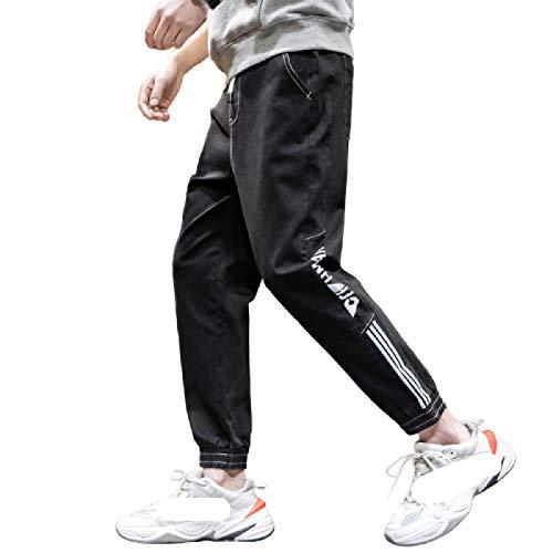 Pantalones Vaqueros para Hombre Primavera y Verano Nuevos Pantalones Vaqueros de Cintura elástica elástica Streetwear Trend Pantalones Cortos de Mezclilla Informales M