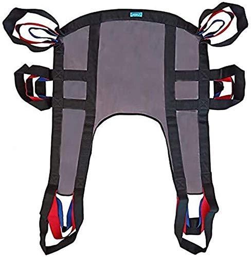 Z-SEAT Doppelschicht-Patientenlift-Toilettenschlinge, Geteilte Beinschlinge, Träger-EIN-Personen-Transfergürtel zum Tragen von Treppen auf und ab