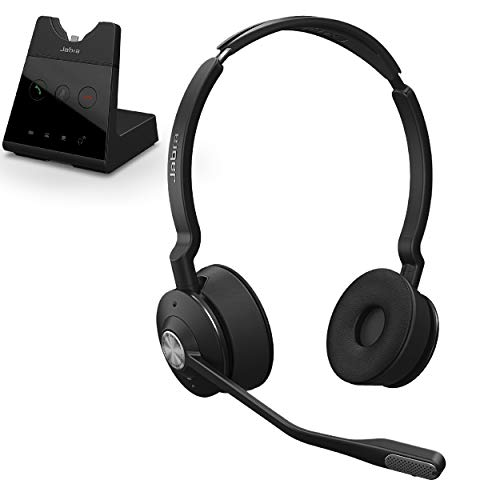 Jabra Engage 65 Wireless Headset, Stereo – Telephone Headset with Industry-Leading Wireless Performance, Advanced Noise-Cancelling Microphone, All Day Battery Life