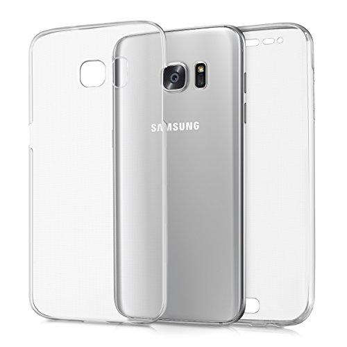 kwmobile Cover Compatibile con Samsung Galaxy S7 Edge - Custodia in Silicone TPU Fronte Retro - Custodia Front Back Case Protezione Cristallina