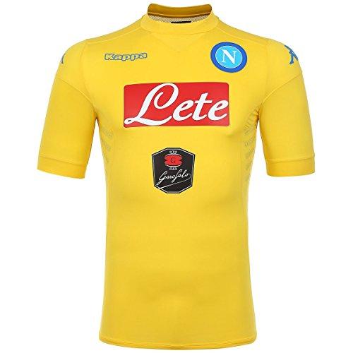 Kappa 302Gg10 Maglia Calcio Napoli Uomo, Colore: Giallo, Taglia: L