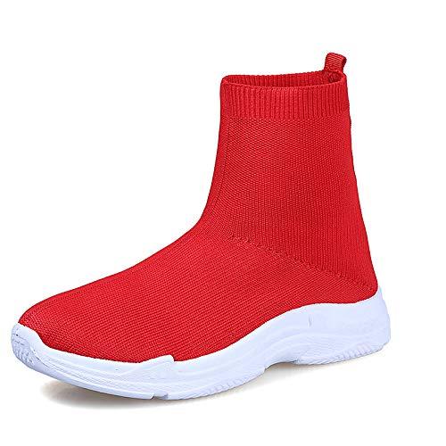Shukun enkellaarsjes Mode Sneakers Casual Paar Schoenen Ademende Dames Schoenen Mode Sportschoenen Sokken Schoenen