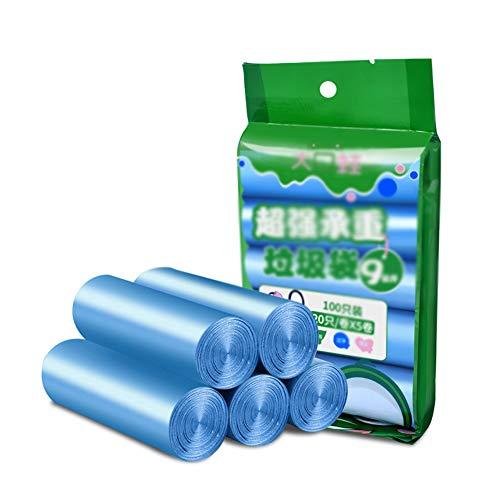 Petit Bin Sac, Sac Poubelle Sacs Poubelle Sac Poubelle Liner Rubbish Super Strong Sacs Poubelle pour Cuisine, Chambre, Bureau,Bleu,45x50cm