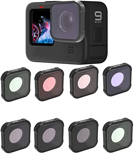 QKOO Filters for GoPro Hero 9 Black ND8 16 32 UV Night Star Diving Red Pink Lens Filters Set product image