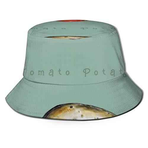 Zhengzho Cappello da Pescatore Estivo con Cappuccio Traspirante con Cappuccio Piatto Unisex Cappello da Sole con Patate al Pomodoro