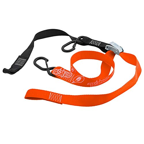 O\'NEAL | Spanngurte | Transport | MX MTB Motocross Mountainbike Enduro | Set bestehend aus 2 Stück, integrierte Karabinerhaken-Verlängerung | DE LUXE Soft hook Tie Downs LOGO | Orange