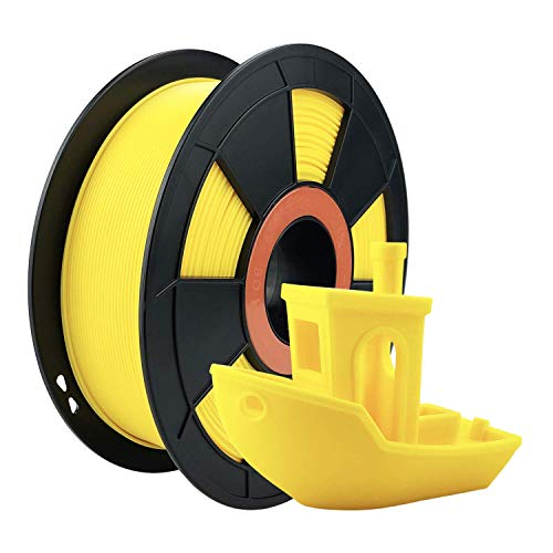 ZIRO PLA Filament 1.75mm,3D Printer Filament PLA PRO Basic Color Series 1.75MM 1KG(2.2lbs), Dimensional Accuracy +/- 0.03mm, Yellow
