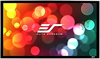 Elite Screens® Sable Frame, 85-inch 2.35:1, Sound Transparent Fixed Frame Projection Projector Screen, ER85WH1W-A1080P2