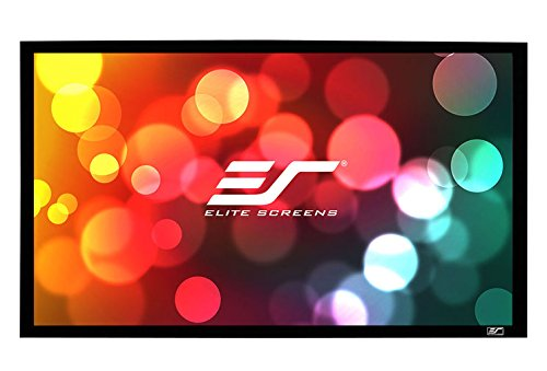 Elite Screens Sable Frame, 85-inch 2.35:1, Fixed Frame Home Theater Projection Projector Screen, ER85WH1-Wide