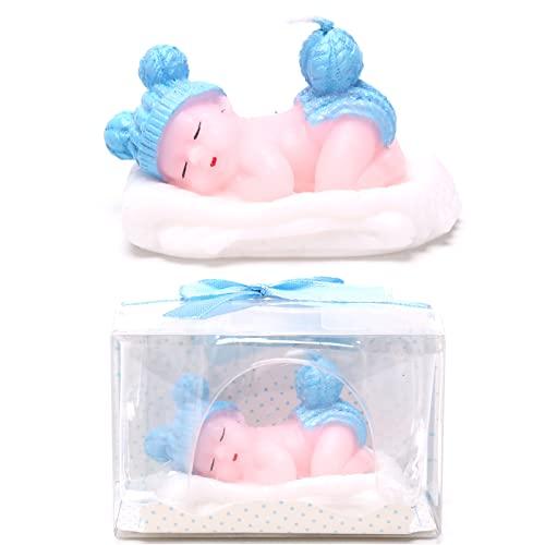 Tiantian, 2 candele per torta di compleanno per bambini che dormono con il bambino e il bambino che dorme e per torta di compleanno per baby shower matrimonio