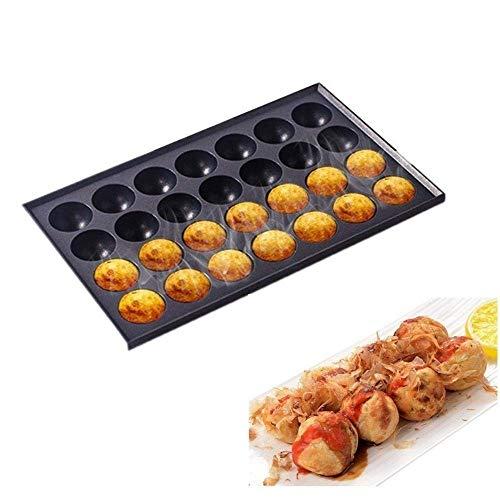 18 Hoyos / 28 Agujeros Comercial Takoyaki Machine Maker Antiadherente Bandeja para...