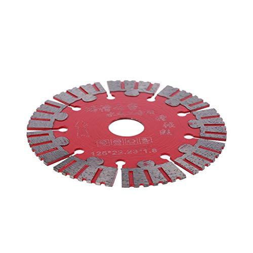 125 mm dünnes Sägeblatt für Marmor, Beton, Porzellan, Fliesen, Granit, Quarzstein, passend für Schneidemaschinen