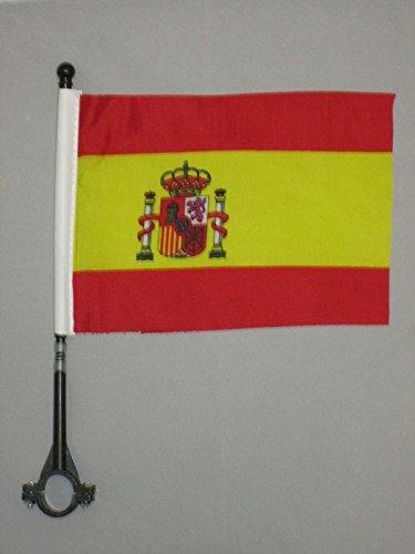 AZ FLAG Bandera de Bici de ESPAÑA 21x14cm - BANDERINA de Bi