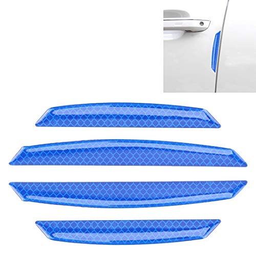 XUAILI Universele autodeur, anti-botsingstroken, beschermrooster, randsticker, voor auto (4 stuks) blauw