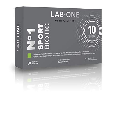LAB ONE N°1 SportBiotic - Fitness Supplement for Training Improvement - 30 Capsules