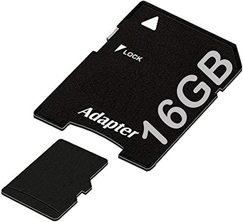 tomaxx Micro SDHC Speicherkarte für Garmin DriveSmart 16GB UHS-1 Class 10 Karte inkl. SD-Adapter passt für Garmin DrivSmart 40, 55, 61, 65