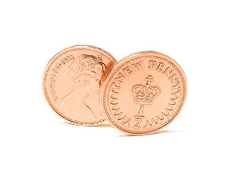 40 ans Noces de rubis 40e anniversaire de mariage en 1975 demi cents Boutons de manchette