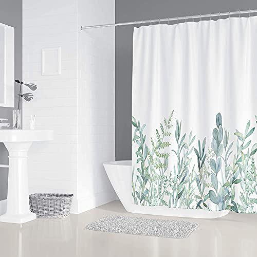 Lusun Duschvorhang, EIN Badezimmer-Textilvorhang mit Anti-Schimmel-Effekt, wasserfester Duschvorhang (Vanille(4))