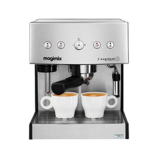 Magimix ekspres do kawy Expresso (wolnostojący, w pełni automatyczny, kapiący ekspres do kawy, kapsułka, kawa mielona, cappuccino, Espresso, chrom)