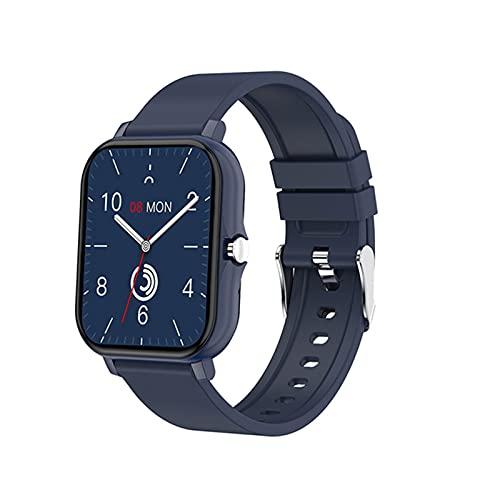 zyz H20 Nuevo Reloj Inteligente para Hombres Y Mujeres 1.69 Pulgadas Pantalla Táctil Completa, Rastreador De Fitness, Monitoreo del Sueño De Frecuencia Cardíaca, Pulsera Inteligente Impermeable,Azul