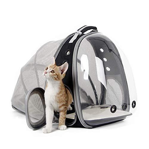 YSYDE Uitbreidbare kat rugzak, gemakkelijk mee te nemen, Space Capsule Bubble transparante huisdier drager, functies luchtcirculatie Fro, voor kleine hond huisdier wandelen reizen rugzak