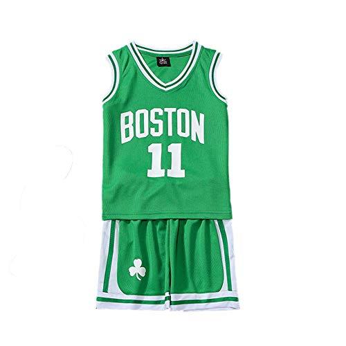 KSWX Maglia da Basket Bambino Celtics Celtics # 11 Kaili-Owen Abbigliamento da Basket per Uomo E Donna. Asciugatura Rapida Traspirante,Green,XS