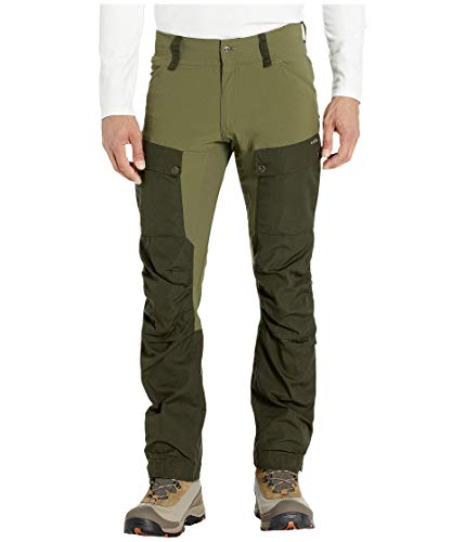 FJÄLLRÄVEN Keb Trousers M Long Pantalon de Sport Homme, Deep Forest/Laurel Green, FR : XL (Taille Fabricant : 52)