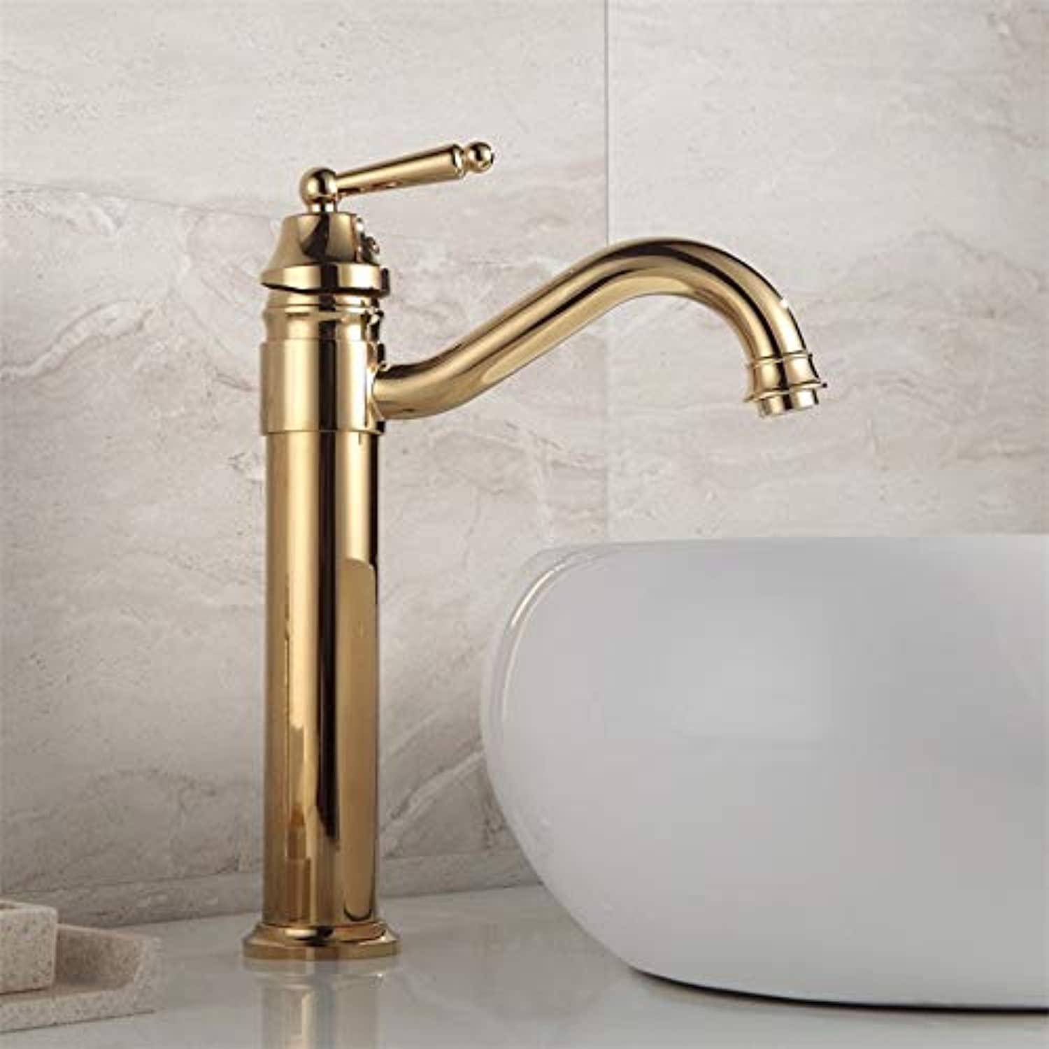 redOOY Taps Bathroom Sink Taps Shower Taps Basin Hot and Cold Faucet_Brass Basin Hot and Cold Faucet redating S Bend Bathroom Countertop Mixing Single Hole Single Handle